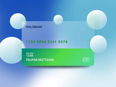 HALOBANK Credit Card uxdesign illustration uidesign design ux ui glass glassmorphism