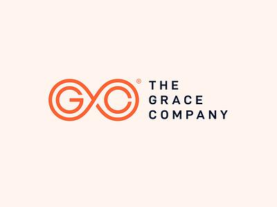 The Grace Company Logo Design color logotype mark symbol orange professional collaboration community graphic design creative brand identity icon design energy logo branding