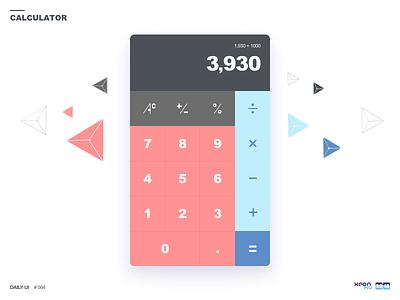 Daily UI challenge #004 — Calculator calculator — 004 challenge ui daily
