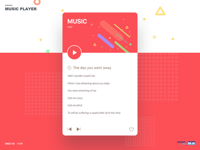 Daily UI challenge #009 — Music Player player music 009 challenge ui daily