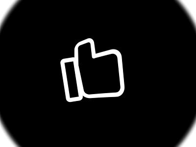 Redaco Logo Morphing - Thumbs Up Icon black  white black thumbs up video motion flat animation branding web ui  ux minimal design logo design logo
