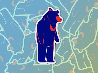 Thinking - Logo, the Sun Bear of Redaco red navy sun bear branding dribbble illustration flat website web ui  ux minimal design