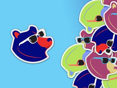 Logo is Cool cyan bear cool onboarding website ui dribbble mobile branding illustration web ui  ux minimal design