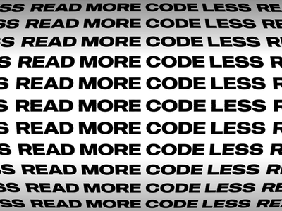 Read More Code Less kinetictypography pattern quote quotes code coders coder programming typography vector animation flat minimal design