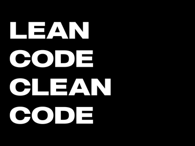 Lean Code Clean Code motion graphics coding coder programmer quotes quote motion design black  white black kinetic typography typographic typo motion animation typography flat vector minimal design