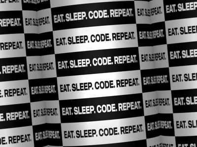Eat. Sleep. Code. Repeat. white black  white black after effect kinetic typography vector motion design motion animation typographic typography typo minimal design