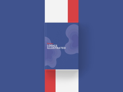 LOGICS Illustrated - By Redaco cover black and white red navy blue book cover book typography vector flat minimal illustration design branding
