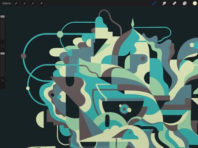Preview 👁🗨 experiments coloring shapes fader abstract digitalart procreate illustration