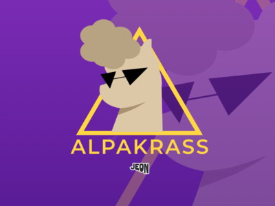 alpakrass vector logo illustration flat design