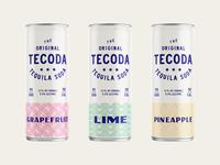 Teq Soda soda tequila design pattern branding packaging