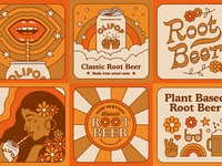 Now Serving illustration vintage plants 70s retro soda rootbeer