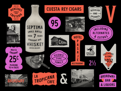 Vicente Font Family typeface retro vintage lettering cigars typography type