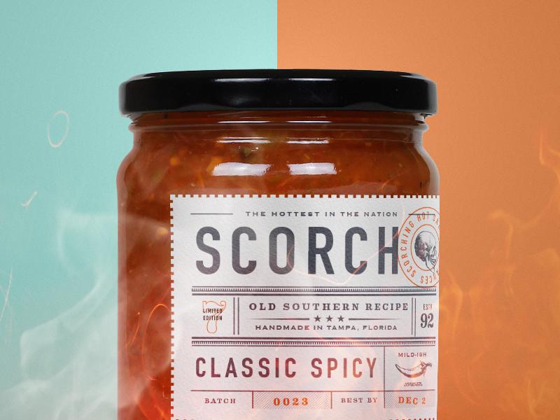 Blistering Heat taco mockup salsa sauce packaging icon logo brand branding