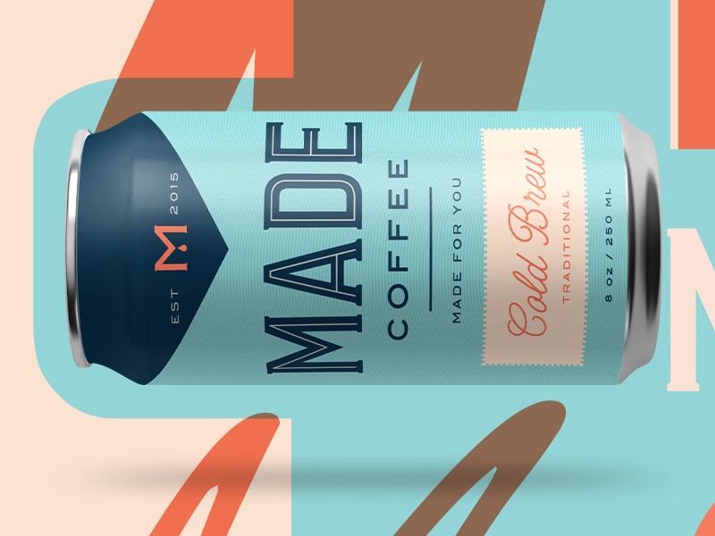 Look what I made design food drink packaging label can coldbrew coffee