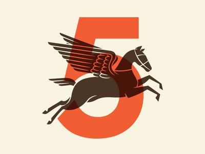 Pegasus Race Horse fly wings vintage number animal horse pegasus