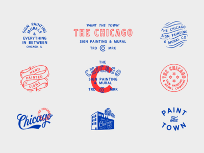 And you say Chi city! mural chicago lettering typography badge design logo