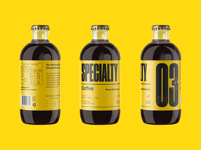 Cold as Ice typography coldbrew coffee branding design packaging