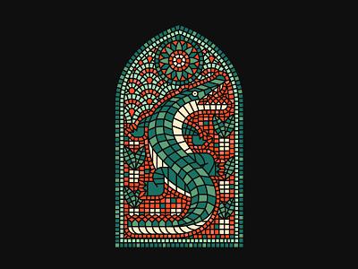 King State florida preacher church design gator mosaic stainedglass
