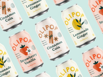 On and poppin' branding label can cola soda design packaging