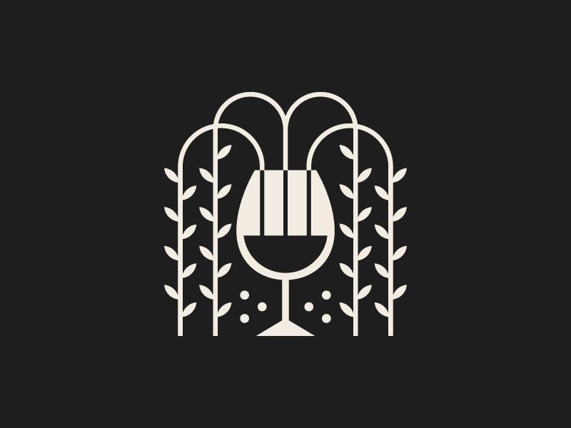 Holy Grail elegant drink geometric identity brand vine wine logo