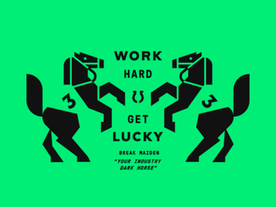 Work Hard Get Lucky