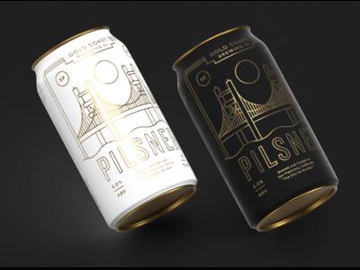 Adobe Liiiiive coast label california brewery gold cans beer