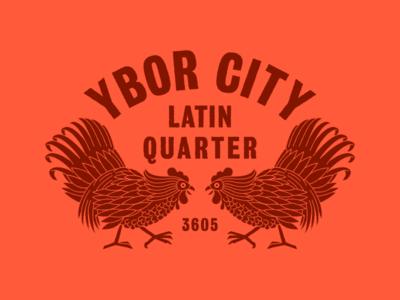 YC badge vintage florida ybor tampa rooster chicken
