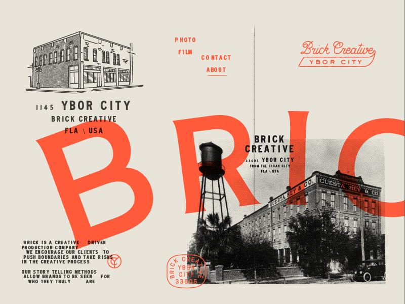 Brick Squadddd stamp illustration badge florida branding vintage brick