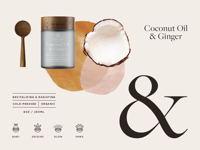 I'm in love with the Coco organic identity typography jar oil coconut branding packaging