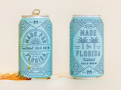 Made for Florida sunshine coldbrew tropical palmtree florida can coffee