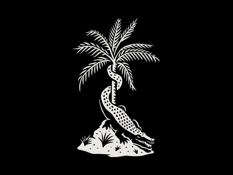 Come and take it swamp florida tropical palmtree gator