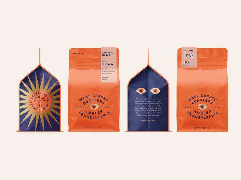 Easy On The Eyes industrial gold roasters sun eyes packaging bag coffee