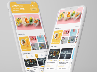 Rewards app - Discount & Cashback mobile app ui cashback discount rewards app