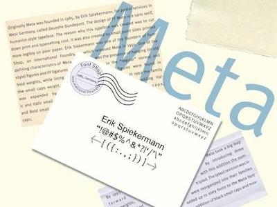Meta school project typography graphic design meta
