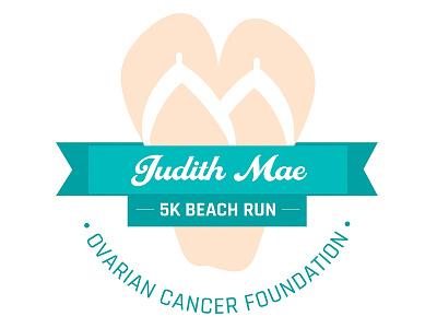 Judith Mae Ovarian Cancer Foundation 5k Beach Run Logo graphic design typography illustration logo campaign ovarian cancer senior thesis