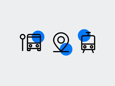 Icons style exploration by Xicons.studio transportation bus metro icon designer pictogram outline icons line icons iconography graphicdesign custom icons icon design icon set