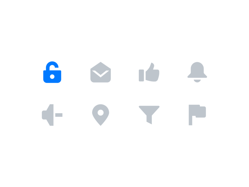 UI Icons by Xicons Studio audio volume email bell filter map pin user interface system icon design application software ui ux premium ui icons icon pack glyph icons filled icons icon set
