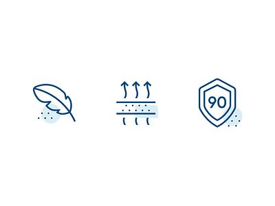 Illustrative icons casper mattress breathable soft icon designer iconography custom icons outline icons illustrative dots line icons icon set icons