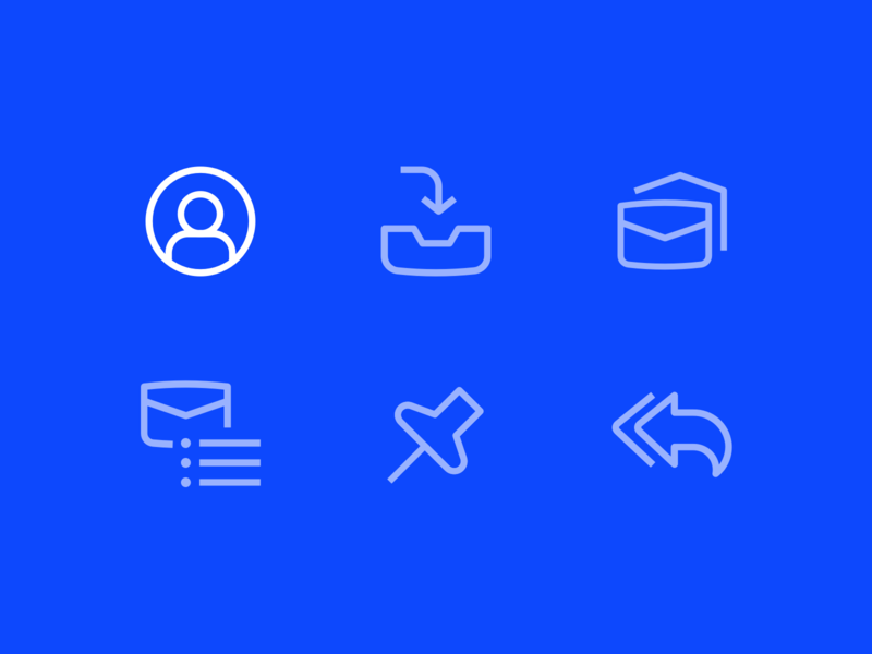 Custom icon design for an email application inbox email app ui  ux ui design ui icons application email line icons custom icons outline icons icon designer icon design icon set