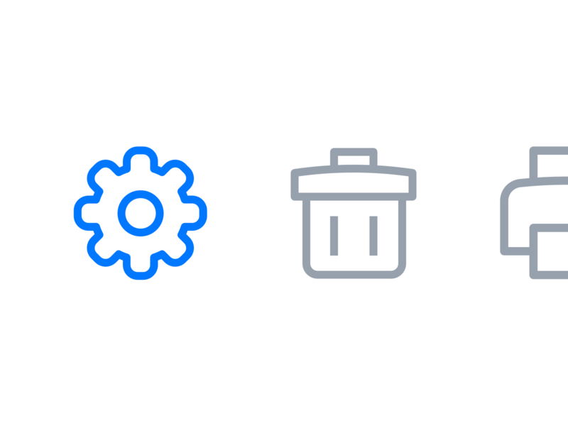 Custom icon design for an email application icons set macos application email ui ui design line icons outline icons custom icons iconography icon design icons design icons