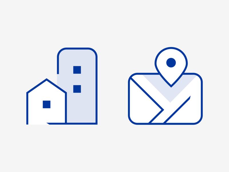 Icon design for real estate developer illustration pictogram iconography map real estate designer freelance custom icons flat design line icons icon set icon design icons