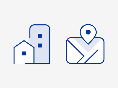 Icon design for real estate developer illustration pictogram iconography map real estate designer freelance custom icons flat design line icons icon set icon design icons