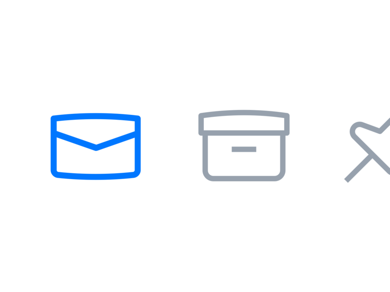UI icons for an email application macos application email ui freelancer line icons outline icons ui icons icon designer custom icons icon set icon design