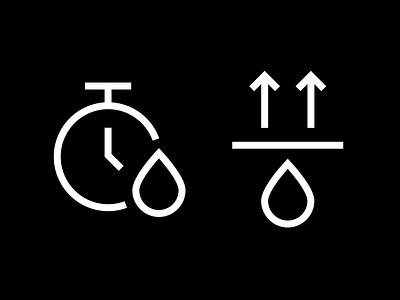 Line icons for fashion brand fashion brand drop dry pictogram icon designer icon design custom icons outline icons line icons icon set iconography