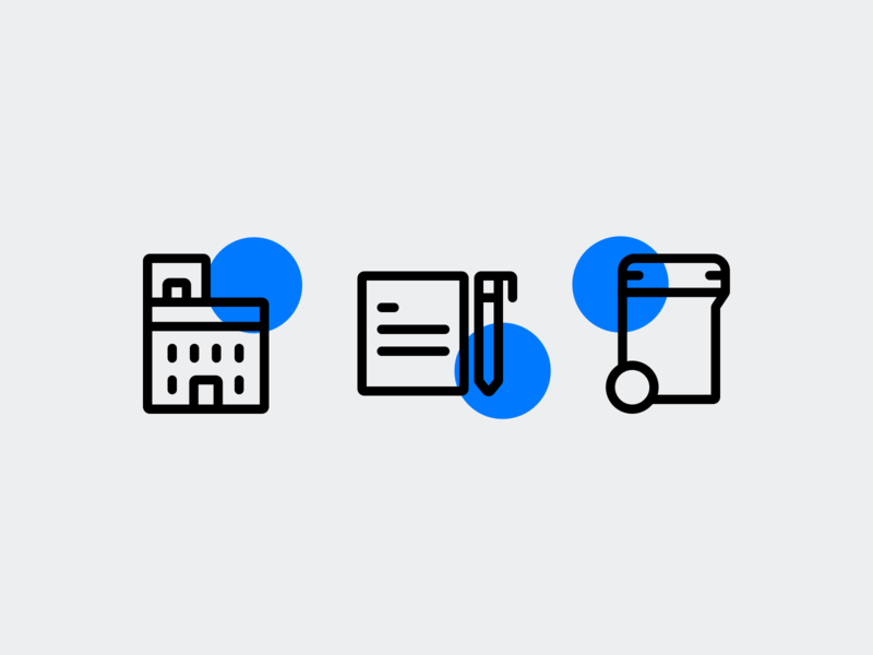 Icons style exploration by Xicons.studio building real estate iconography pictogram outline icons ui icons line icons icon design icon designer icons icon set
