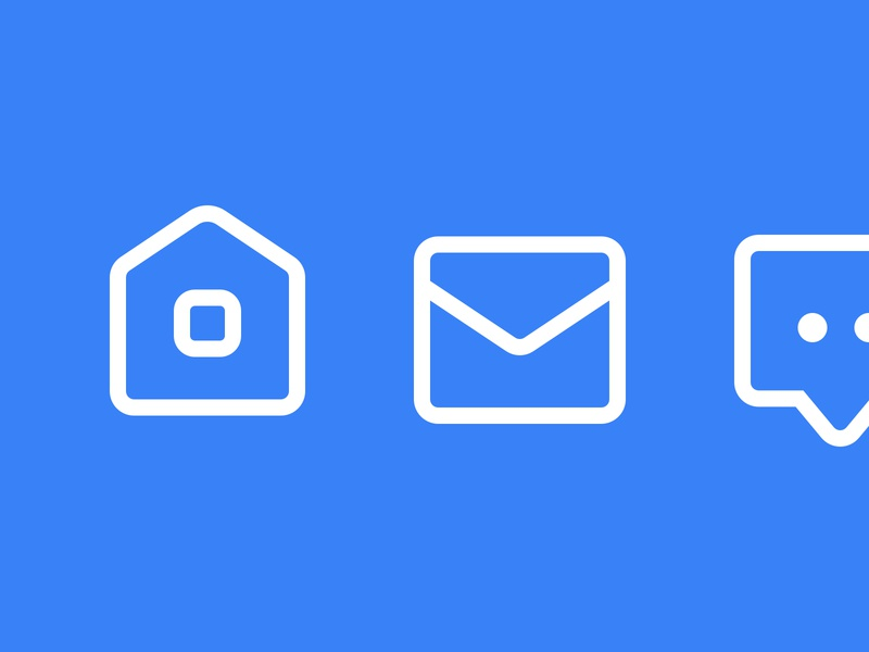 System icons chat email home pictogram iconography vector system ux ui icons outline line icon designer freelancer icon design icon set custom icons