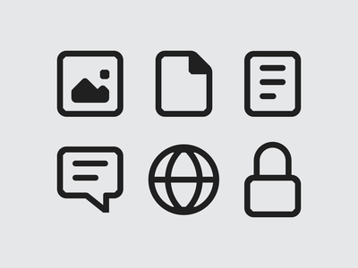Mozilla Firefox Icon System, Proton Redesign iconography outline icons custom icons browser system icon designer proton firefox mozilla icon set icon design