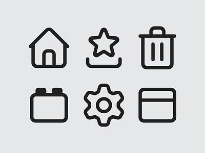 Mozilla Firefox Icon System, Proton Redesign icon set custom iconography icons outline icon designer system icon proton firefox mozilla browser ui