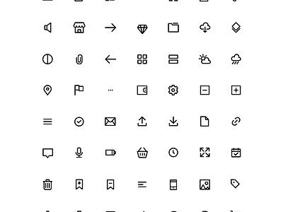 Free Basic Icons download custom icon design custom icons icon designer icon pack ui set icons iconography freebie