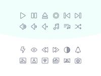 Freebie - 60 Multimedia Icons